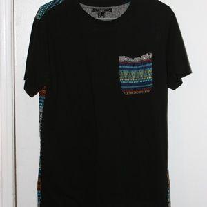 Patterned Pocket T Shirt